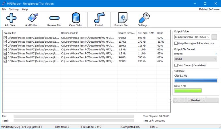 MP3Resizer pour Windows 10