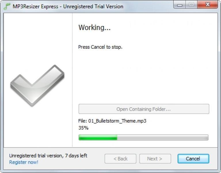 MP3Resizer sur PC