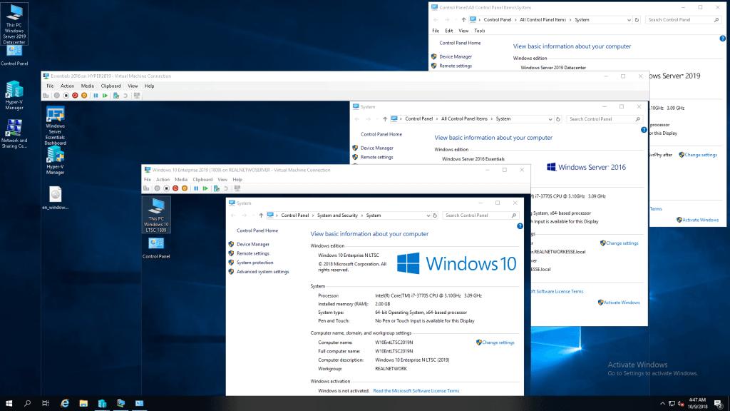 Vue d'ensemble de Windows Server 2019
