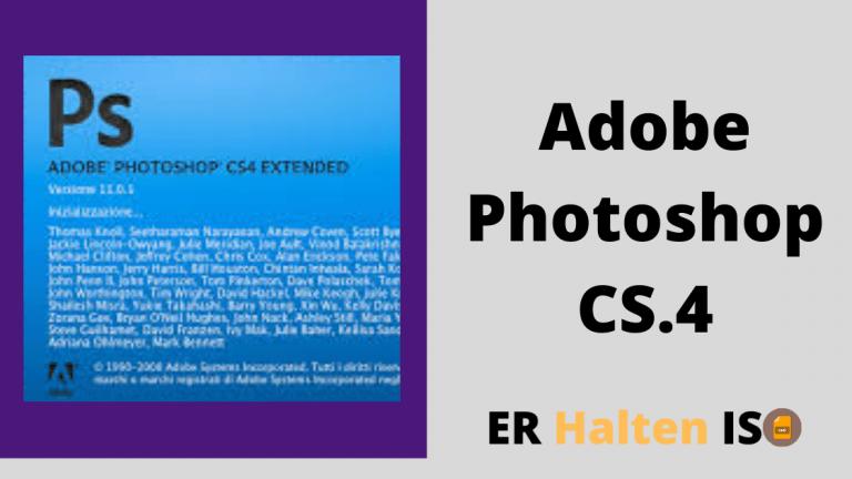 Adobe Photoshop CS4 Portable Version complète Télécharger gratuitement