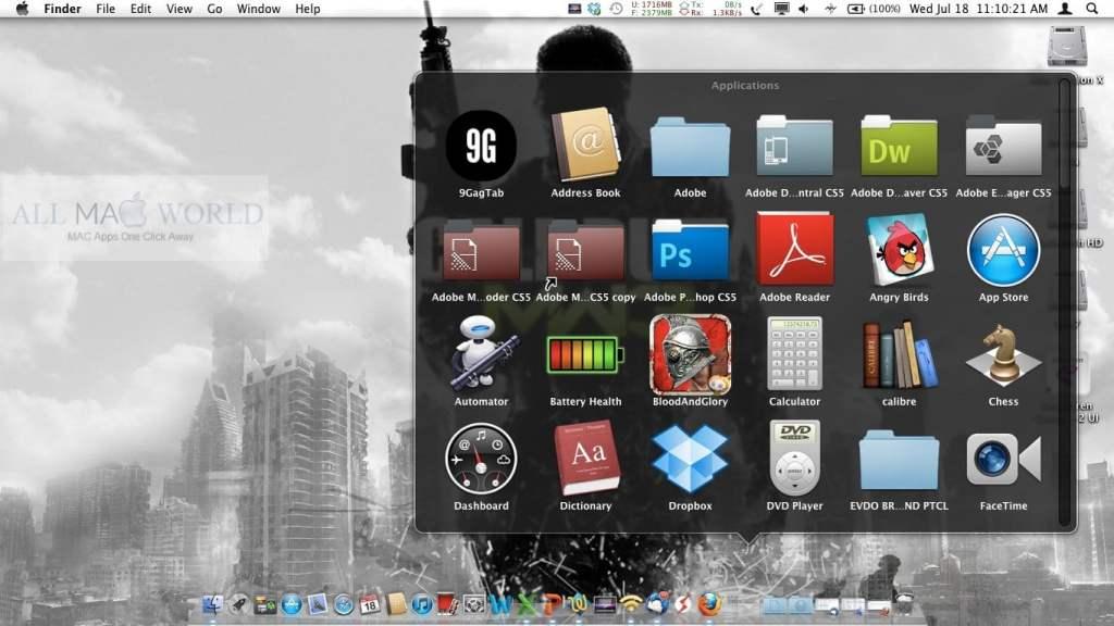 Fichier DMG Mac OS X Lion 10.7: Fonctionnalités