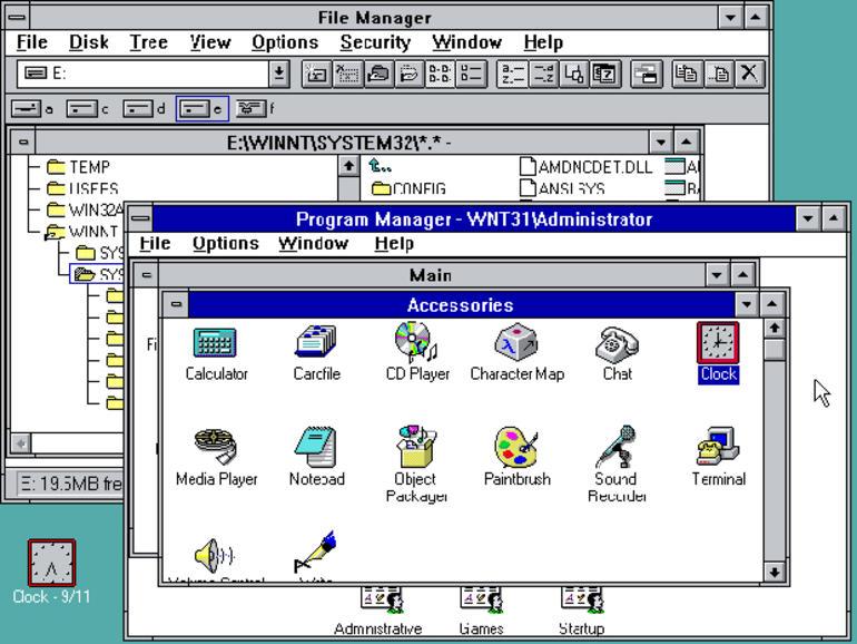 Fonctionnalités de Windows 3.1 et configuration système requise