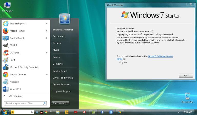 Télécharger Windows 7 Starter ISO