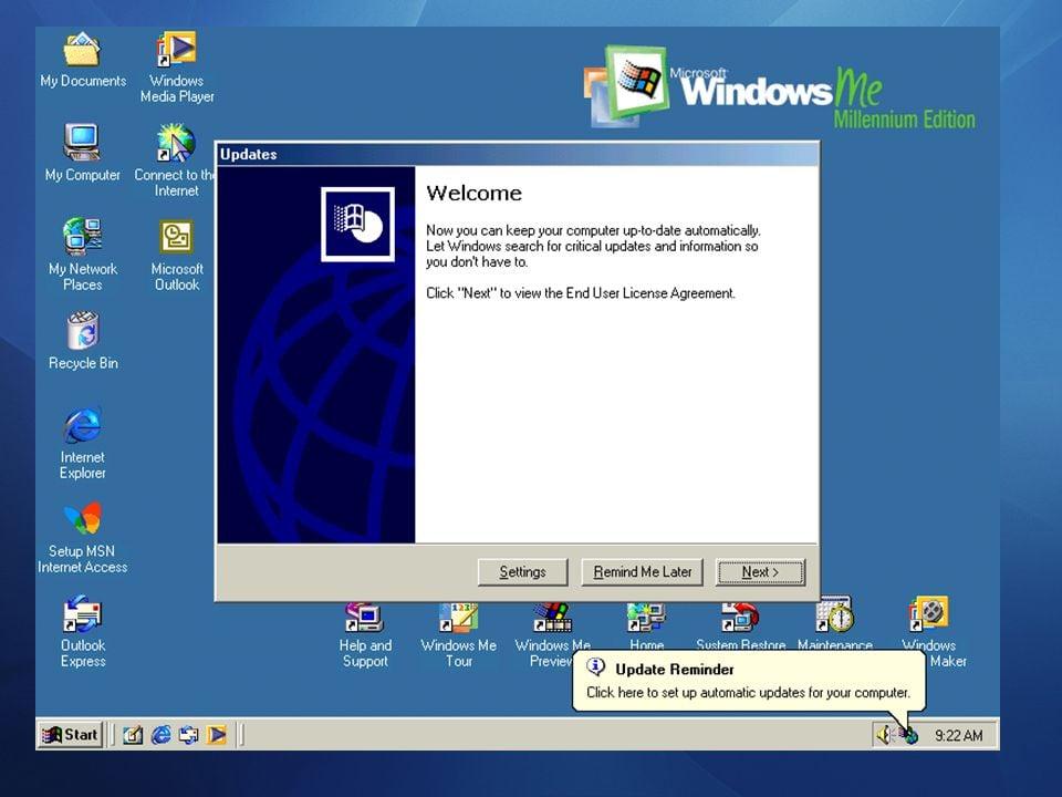 Prise en charge de Windows 98 ISO et multimédia