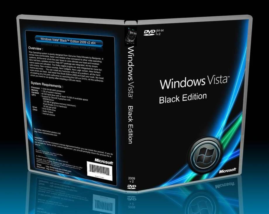 Téléchargez gratuitement Windows Vista Black Edition ISO