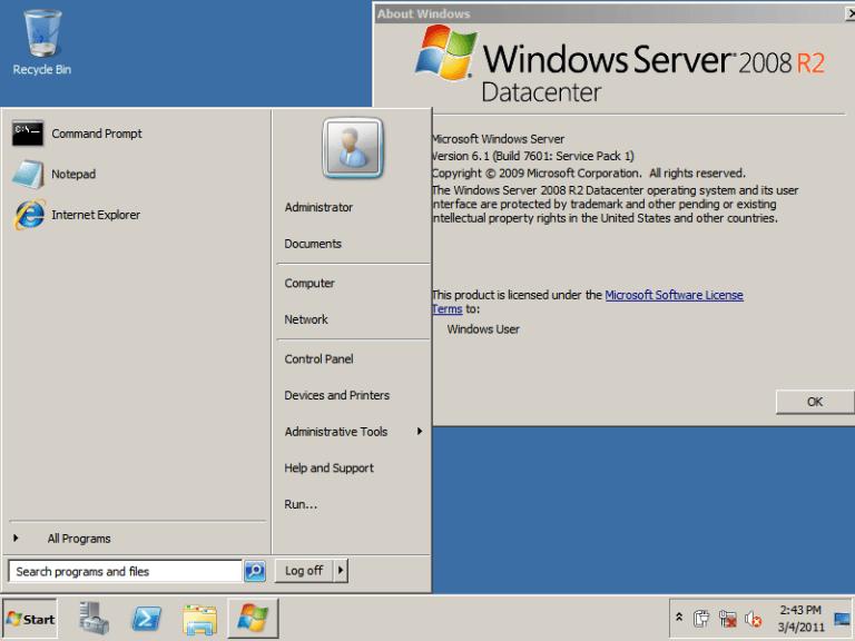 ISO de Windows Server 2008 R2