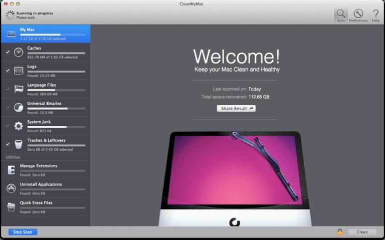 Télécharger CleanMyMac X v4.1