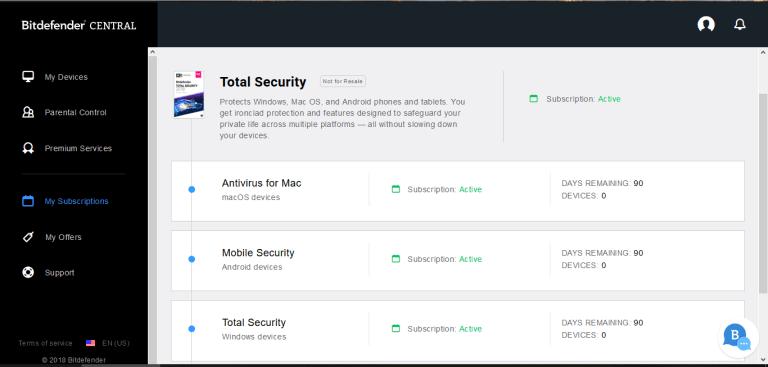 Téléchargez BitDefender Antivirus 2020 pour Windows
