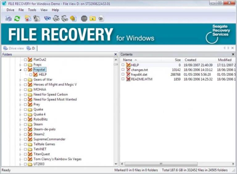 Logiciel de système de récupération de fichiers Seagate