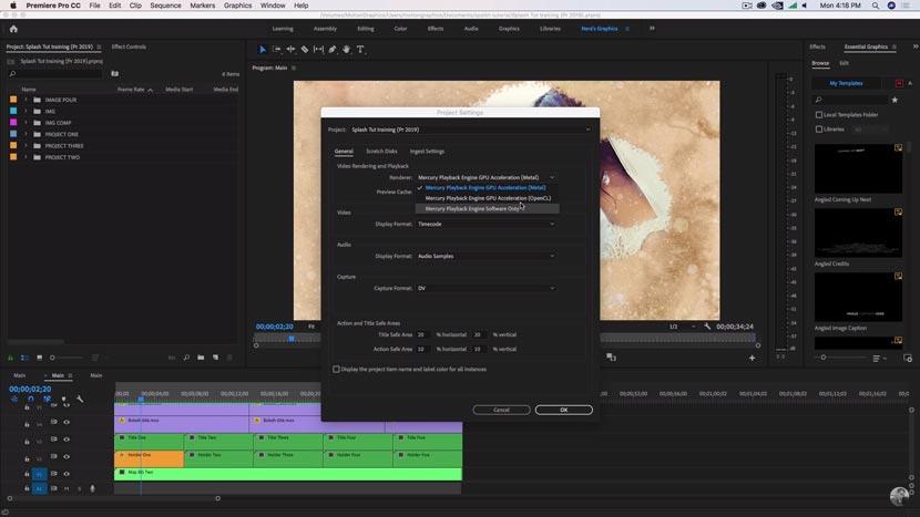 Adobe Premiere Pro 2019 Version complète pour Mac OS Téléchargement gratuit