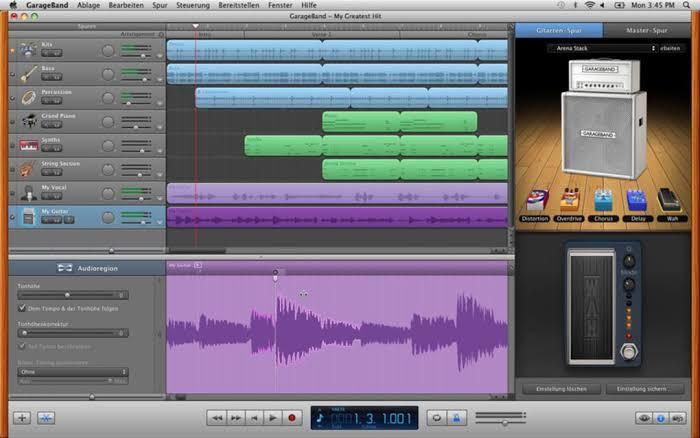 Téléchargez GarageBand pour Mac avec la dernière version