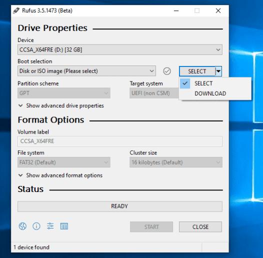 Rufus 2019 dernière version pour Windows Téléchargement gratuit