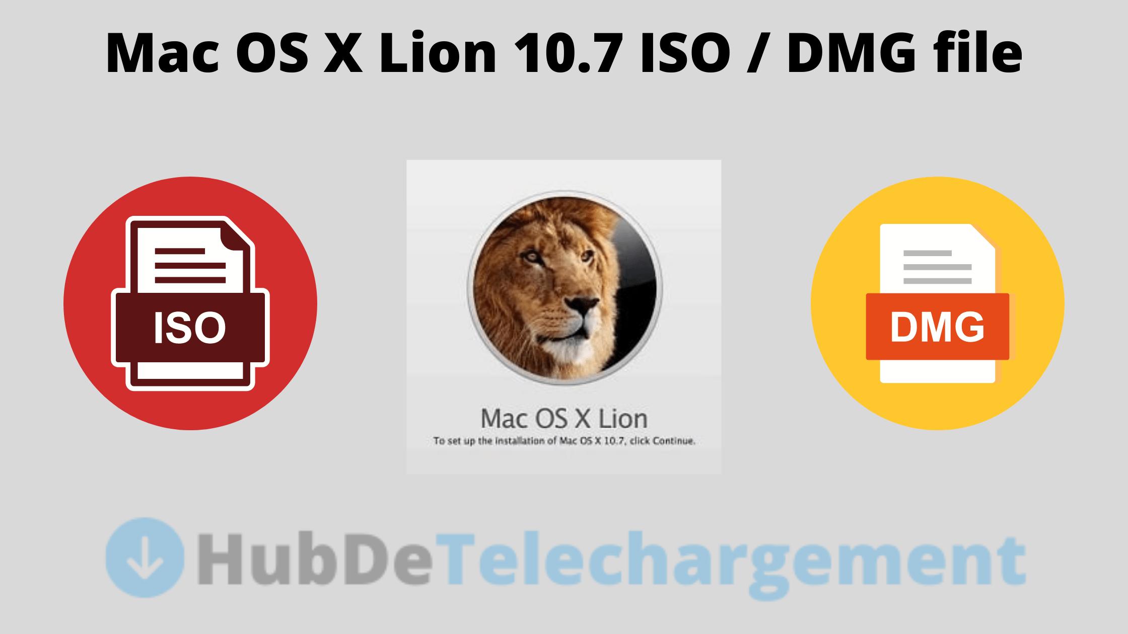Mac OS X Lion 10.7 ISO / DMG file