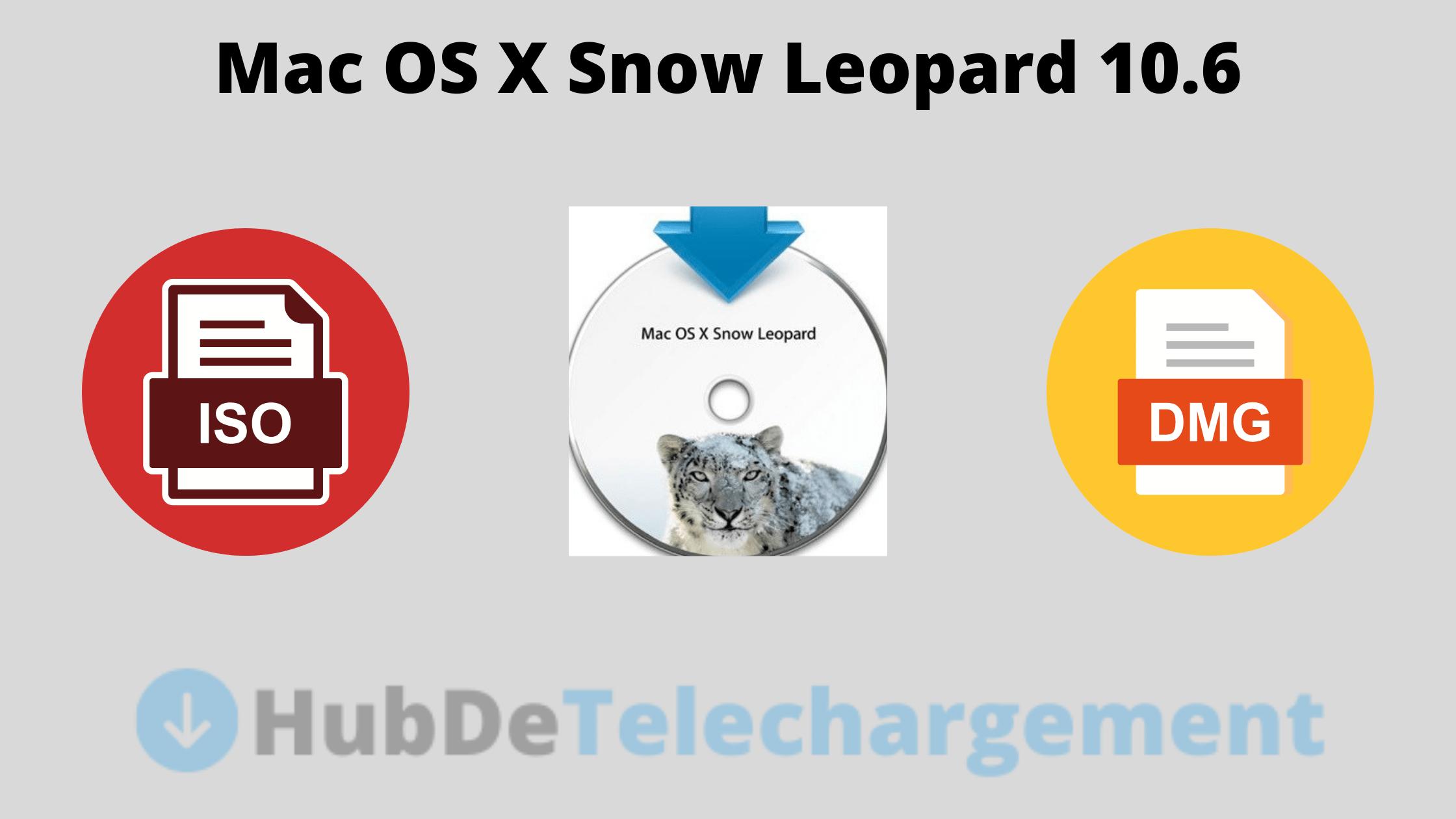 Fichier ISO et DMG de Mac OS X Snow Leopard 10.6