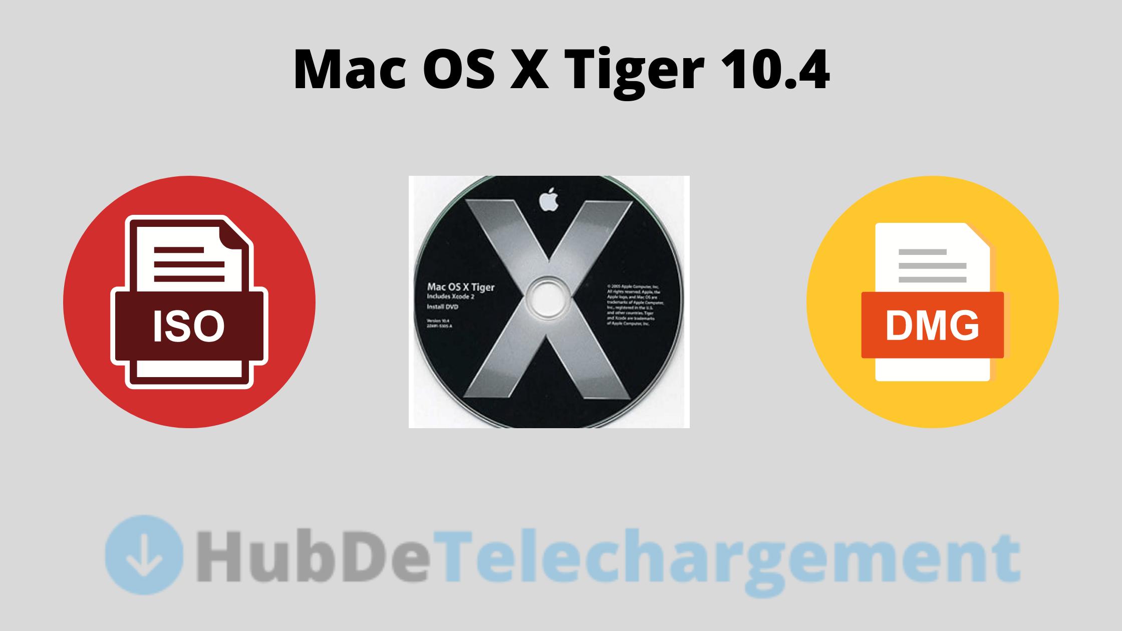 ISO / DMG de Mac OS X Tiger 10.4