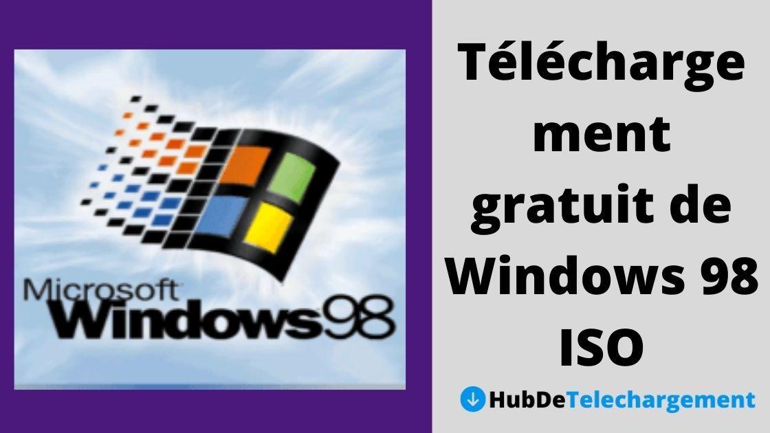 Téléchargement gratuit de Windows 98 ISO